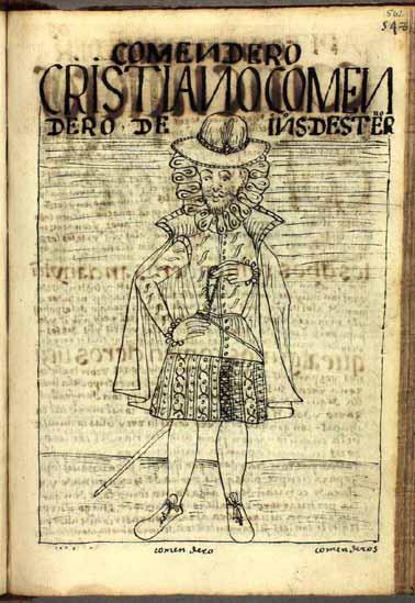El encomendero cristiano, que por donación del rey español tiene a su cargo a los indios y las tierras de una comunidad (pág. 562)