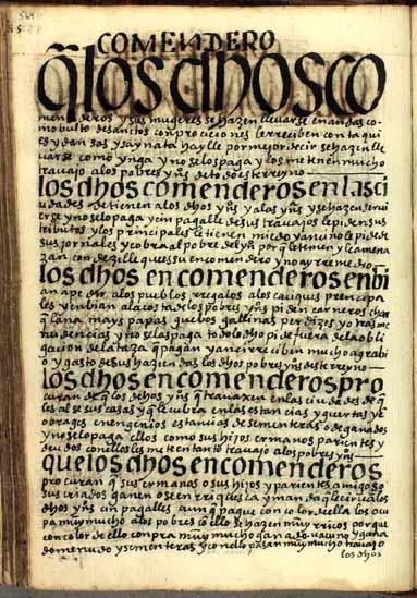 """Los encomenderos, """"señores absolutos"""", pág. 569"""