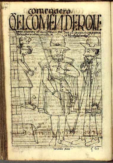 El corregidor cuelga al cacique a pedido del encomendero. (pág. 571)