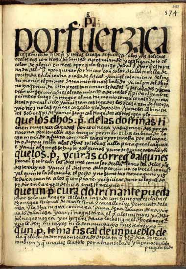 Casamientos forzosos de feligreses andinos, pág. 588