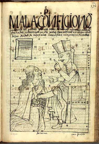 """Bad confession"": a priest abuses his pregnant parishioner during confession. (p.590)"