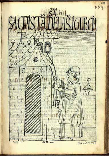 El sacristán toca las campanas para llamar a los feligreses a misa y oración. (pág. 678)