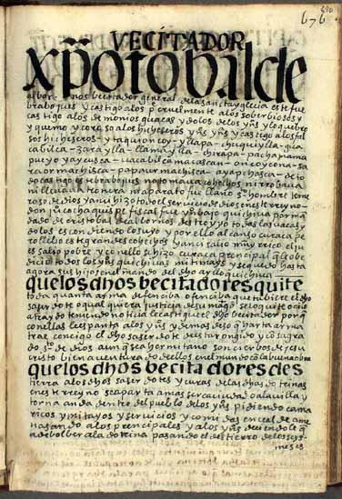 La visita general de Cristóbal de Albornoz, pág. 690