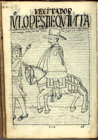 El visitador Juan López de Quintanilla, amigo de los pobres y buena justicia (pág. 695)