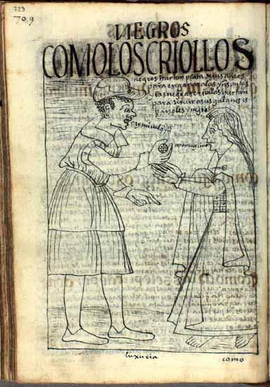 Los negros criollos hurtan plata de sus amos para engañar a las indias prostitutas. (pág. 723)