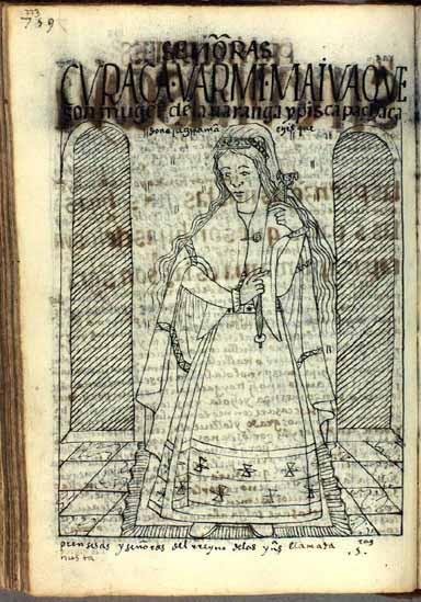 Kuraka warmi, señoras de kuraka, waranqa y pisqa pachaka; doña Juana Guaman Chisque, ñusta, princesa del reino de las Indias (pág. 773)