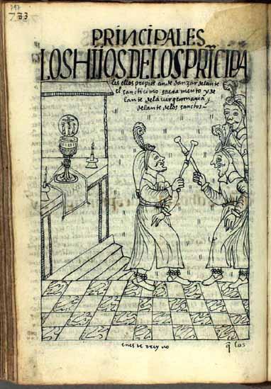 Los hijos de principales han de bailar delante del Santísimo Sacramento en las fiestas litúrgicas. (pág. 797)