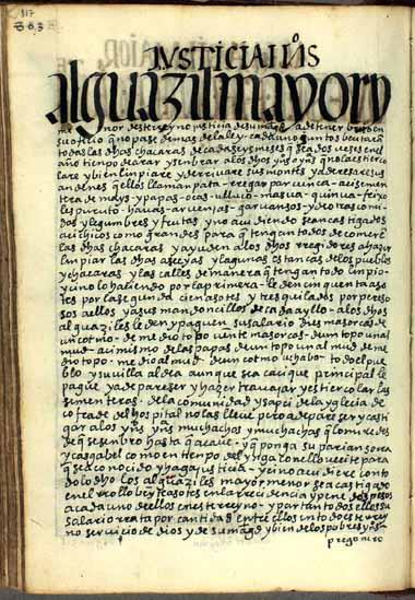 Alguacil mayor y menor, pág. 817