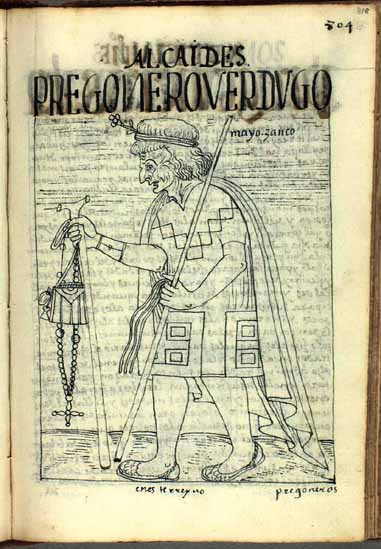 An old man, one of the native magistrates, town criers, or executioners of this kingdom (p.818)