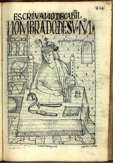 The native scribe of the municipal court (828-832)