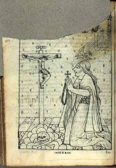 Las oraciones devotas de una mujer andina convocan la paloma del Espíritu Santo. (pág. 837)