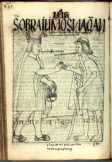 Los cristianos han de dar limosna, especialmente en este reino de las Indias del Perú. (pág. 855)