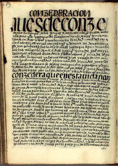 La obediencia en los tiempos del Ynga y en los primeros años de la conquista, pág. 931