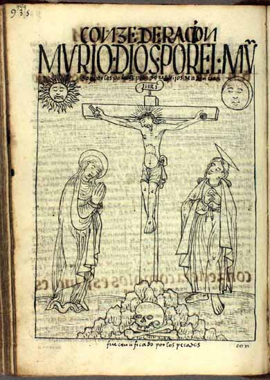 """El Cristo crucificado: """"Murió por el mundo y por todos los pecadores, hijos de Adán y Eva"""". (pág. 949)"""
