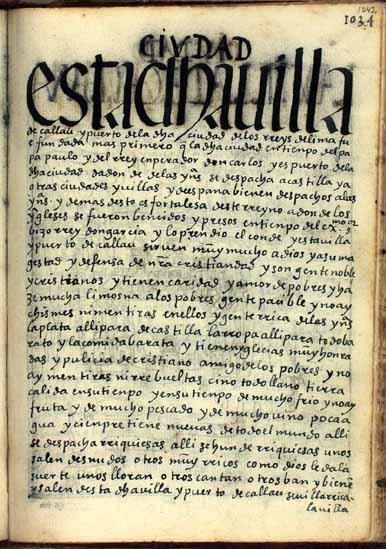 La villa de Callau, puerto de Lima, pág. 1042