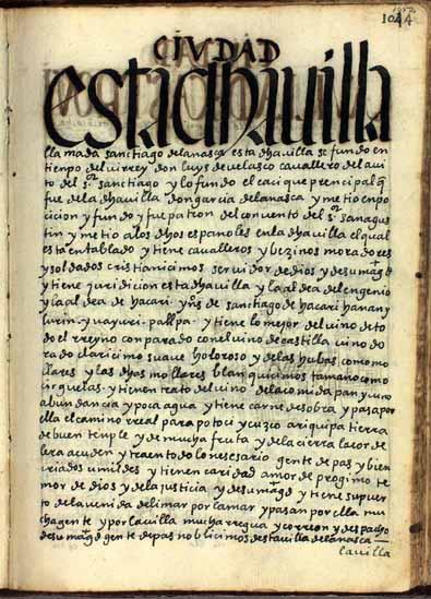 La villa de La Nasca, tierra de vino, pág. 1052
