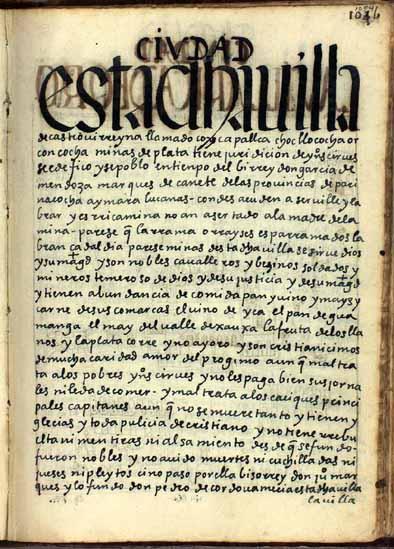 La villa de Castrovirreina, minas de plata, pág. 1054