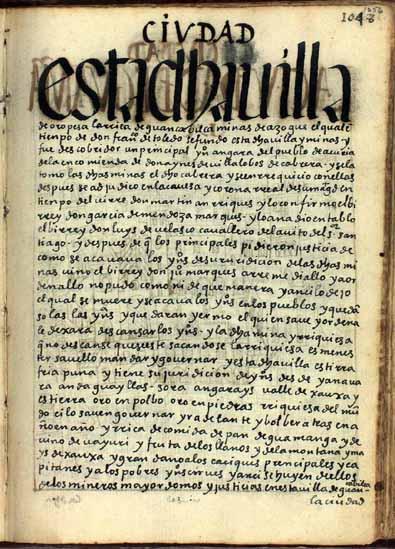 La villa de Oropesa de Guanca Bilca, minas de azogue, pág. 1056