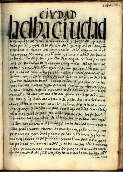 La ciudad de Chuquisaca, audiencia real y obispado, pág. 1070