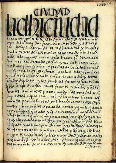 La ciudad de Santiago de Chile, obispado, pág. 1076