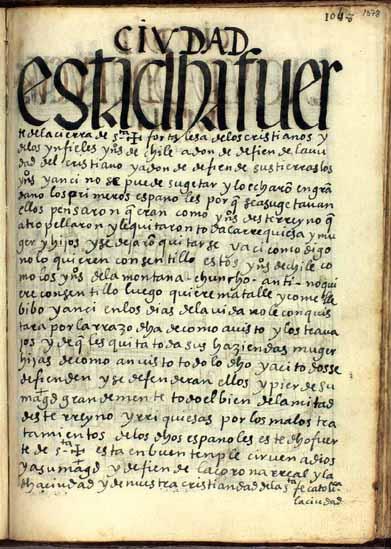 La pukara de los indígenas y la fortaleza cristiana de Santa Cruz de Chile, pág. 1078