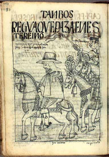 Un viajero español y su arriero en camino al tambo real (pág. 1093)