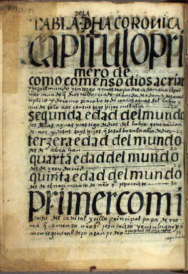 38. Table of contents of the said chronicle (1179-1187)