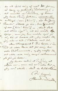 Henrik Pontoppidan til Otto Borchsenius 16.2.1884.