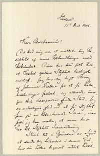 Henrik Pontoppidan til Otto Borchsenius 11.12.1906.