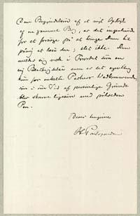 Henrik Pontoppidan til Georg Brandes 25.9.1898.