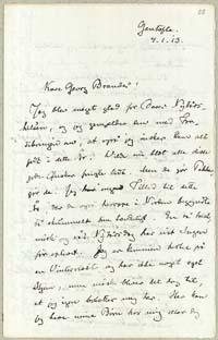 Henrik Pontoppidan til Georg Brandes 4.1.1913.
