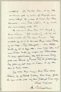 Henrik Pontoppidan til Vilh. Andersen 10.10.1931.