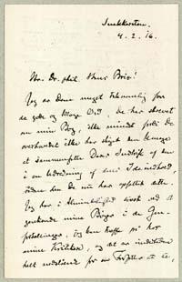 Henrik Pontoppidan til Hans Brix 4.2.1916.