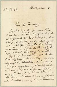 Henrik Pontoppidan til Ludvig Feilberg 6.10.1899.