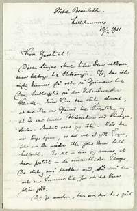 Henrik Pontoppidan til Martinus Galschiøt 13.2.1911.