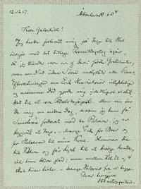 Henrik Pontoppidan til Martinus Galschiøt 12.12.1917.
