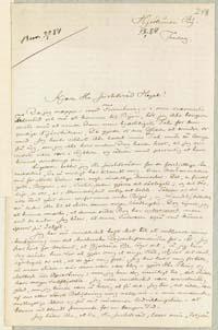 Henrik Pontoppidan til Frederik V. Hegel 18.1.1884.