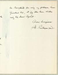 Henrik Pontoppidan til Tom Kristensen 5.5.1928.