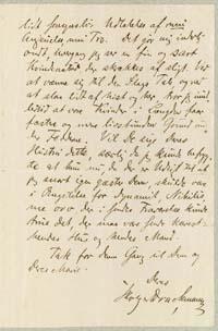 Holger Drachmann til Henrik Pontoppidan 30.5.1883.