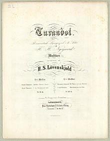 Titelblad til udgivelsen af arierne fra 'Turandot'. Klik for større billede
