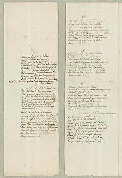 Nicolai Abildgaards afskrift af 'Marseillaisen'. Klik for større billede