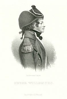 Portræt af Peter Willemoes. Klik for større billede