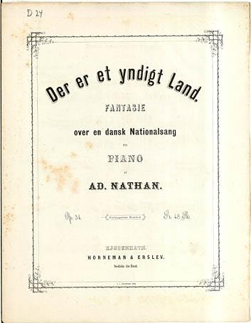 Titelblad til Adolph Nathans værk